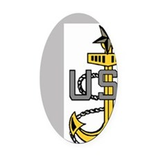 NavySCPOAnchorForShirts.gif        Oval Car Magnet
