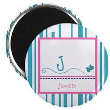 """Custom Monogram Butterfly 2.25"""" Magnet (100 pack)"""