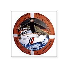 "CoastGuardPatchCGSTATybeeGA Square Sticker 3"" x 3"""