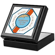 CoastGuardPatchEighthDistrict.gif Keepsake Box