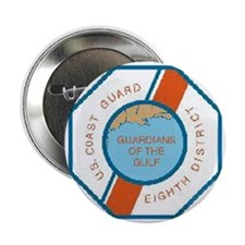 "CoastGuardPatchEighthDistrict.gif 2.25"" Button"