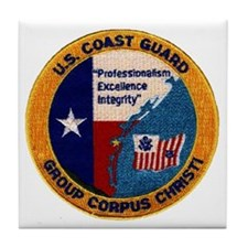 CoastGuardPatchGroupCorpusChristi.gif Tile Coaster
