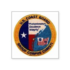 "CoastGuardPatchGroupCorpusC Square Sticker 3"" x 3"""