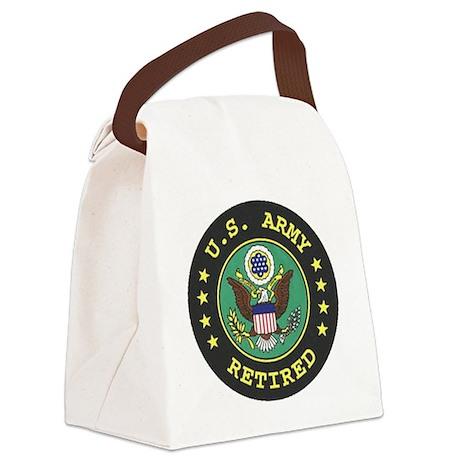 ArmyRetiredSeal.gif Canvas Lunch Bag