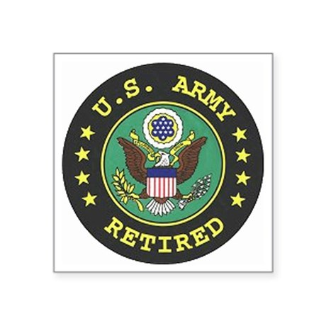 "ArmyRetiredSeal.gif Square Sticker 3"" x 3"""
