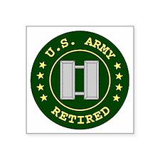 """ArmyRetiredCaptain.gif Square Sticker 3"""" x 3"""""""