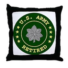 ArmyRetiredLieutentantColonel.gif Throw Pillow