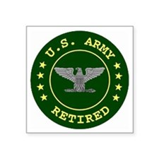 "retiredarmycolonel.gif Square Sticker 3"" x 3"""