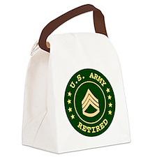 Armyretiredstaffsergeant.gif Canvas Lunch Bag