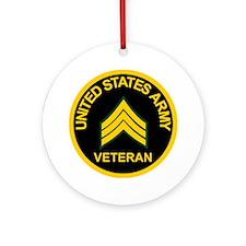 ArmyVeteranSergeantBlack.gif        Round Ornament