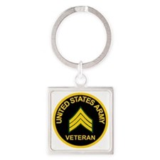 ArmyVeteranSergeantBlack.gif       Square Keychain