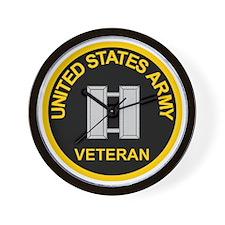 ArmyVeteranCaptainBlack.gif Wall Clock