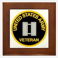 ArmyVeteranCaptainBlack.gif Framed Tile