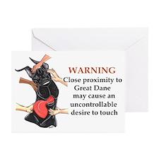 C Blk Warning1 Greeting Cards (Pk of 10)