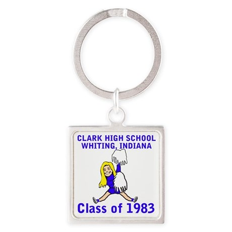 clarkhighschool1983blondecheerlead Square Keychain