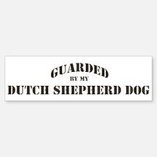 Dutch Shepherd Dog: Guarded b Bumper Bumper Bumper Sticker