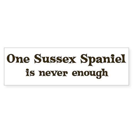 One Sussex Spaniel Bumper Sticker