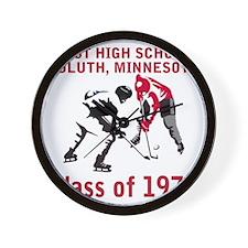 dulutheasthigh1973hockeyfaceoff.gif Wall Clock