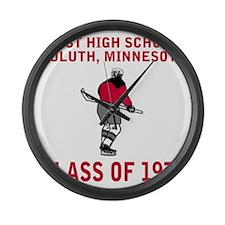 dulutheasthigh1973hockeyguy2.gif Large Wall Clock