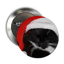 Little Christmas Cat Button
