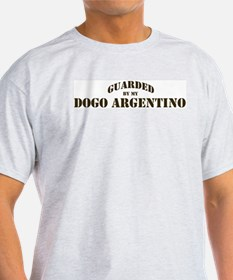 Dogo Argentino: Guarded by Ash Grey T-Shirt