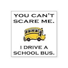 "AdobeIDriveASchoolBus.gif Square Sticker 3"" x 3"""