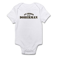 Doberman: Guarded by Infant Bodysuit