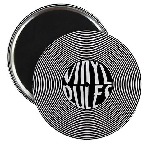 """Vinyl Rules 2.25"""" Magnet (100 pack)"""