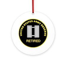 ArmyReserveRetiredRingCaptain.gif Round Ornament