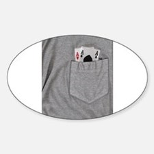 Pocket Aces Oval Decal