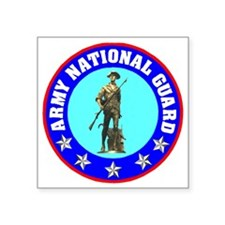 "armynationalguardseal.gif Square Sticker 3"" x 3"""