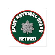 "armynationalguardretiredlie Square Sticker 3"" x 3"""