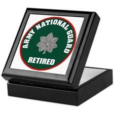 armynationalguardretiredlieutenantcol Keepsake Box