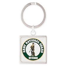 armynationalguardveteransealgreen. Square Keychain