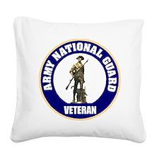armynationalguardveteransealb Square Canvas Pillow