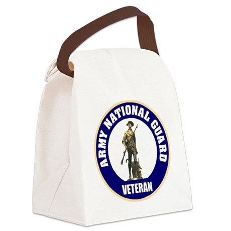 armynationalguardveteransealblue. Canvas Lunch Bag
