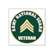 "armynationalguardveteranser Square Sticker 3"" x 3"""