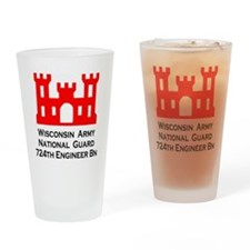 ynationalguardwisconsin724thenginee Drinking Glass