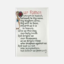 Lords Prayer 1 Rectangle Magnet