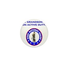 ArmyNationalGuardMyGrandsonOnActiveDut Mini Button