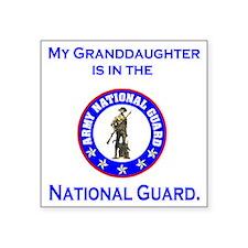 """ArmyNationalGuardMyGranddau Square Sticker 3"""" x 3"""""""