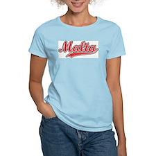 Retro Malta Women's Pink T-Shirt