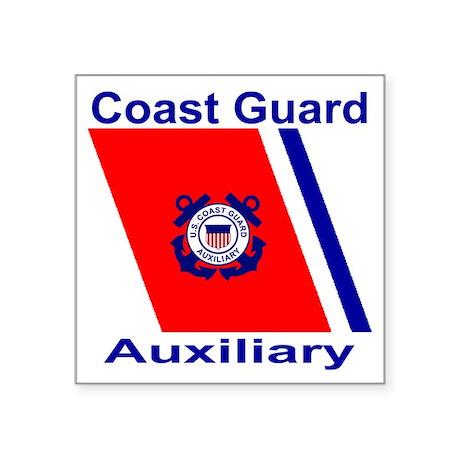 "coastguardauxiliaryteeshirt Square Sticker 3"" x 3"""
