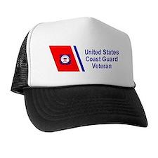 coastguardveteranracingstripebumpersti Trucker Hat