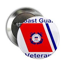 "CoastGuardVeteranRacingStripeTeeShirt 2.25"" Button"