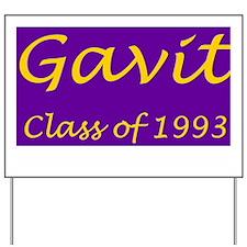 Gavit1993BandedAthleticShirt.gif Yard Sign