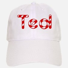Ted - Candy Cane Baseball Baseball Cap