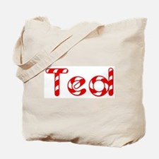Ted - Candy Cane Tote Bag