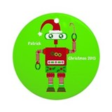 Personalized robot Round Ornaments