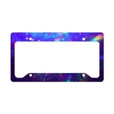 Rainbow Explosion License Plate Holder